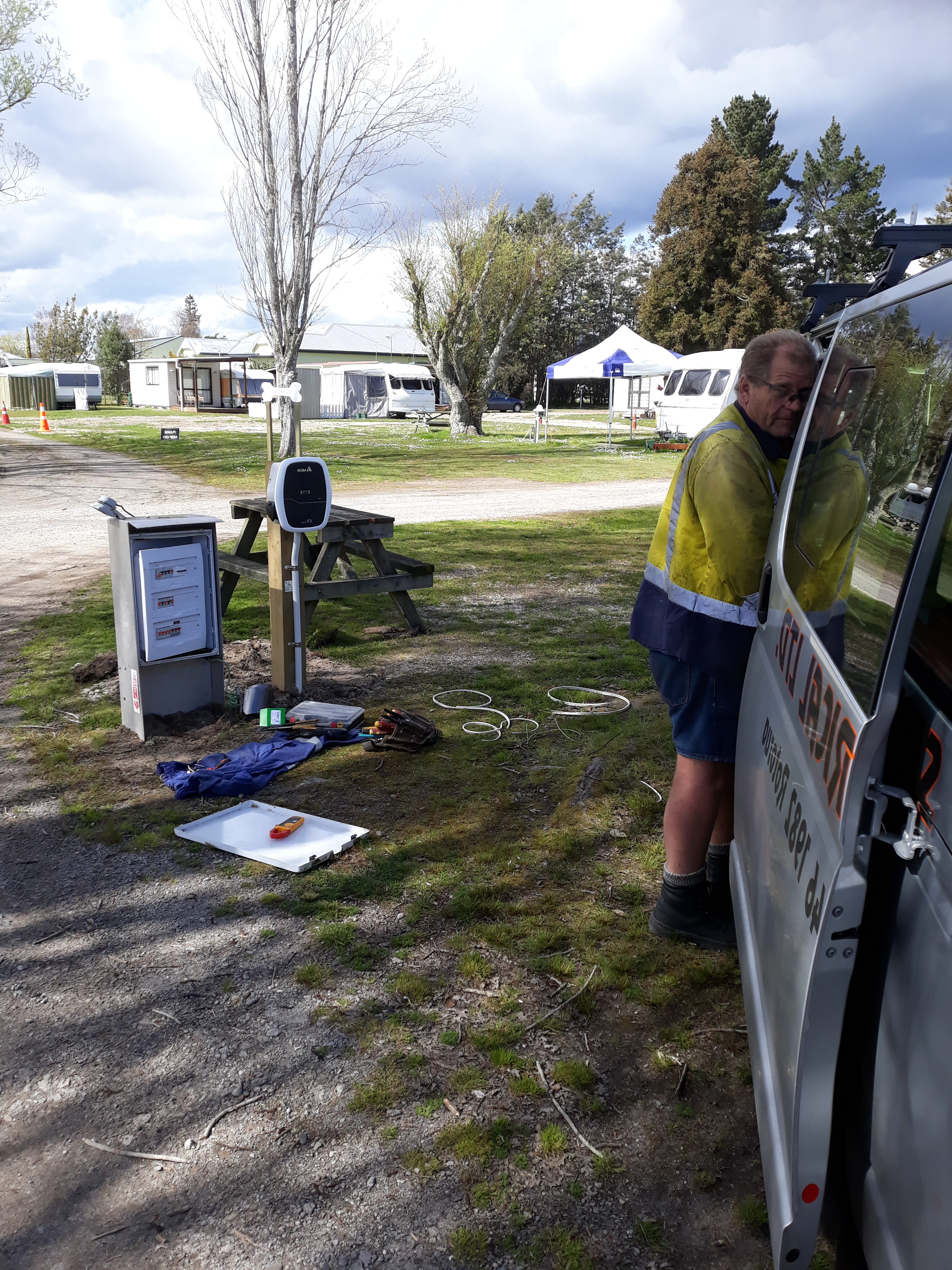ELECTRIC CAR CHARGING STATION graphic